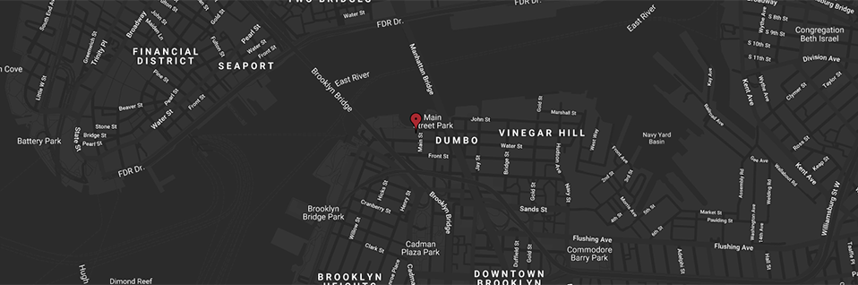 Map of where Time Out Market New York is in conjunction with the subways and Hudson River