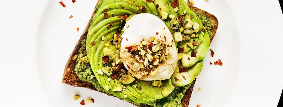 Avocado toast with burrata by Avocaderia