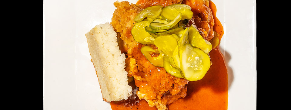 Nashville hot chicken sandwich by Jacob's Pickles
