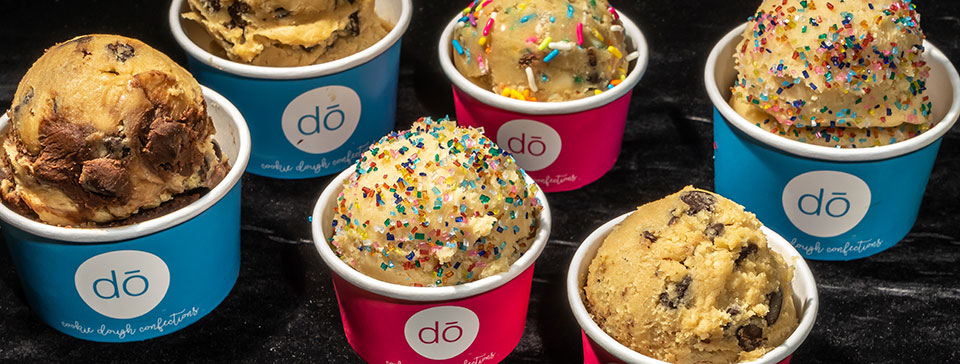 Cookie dough in cups by Cookie DO