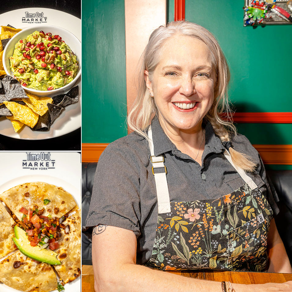 Chef Ivy Stark with her guacamole and quesadilla