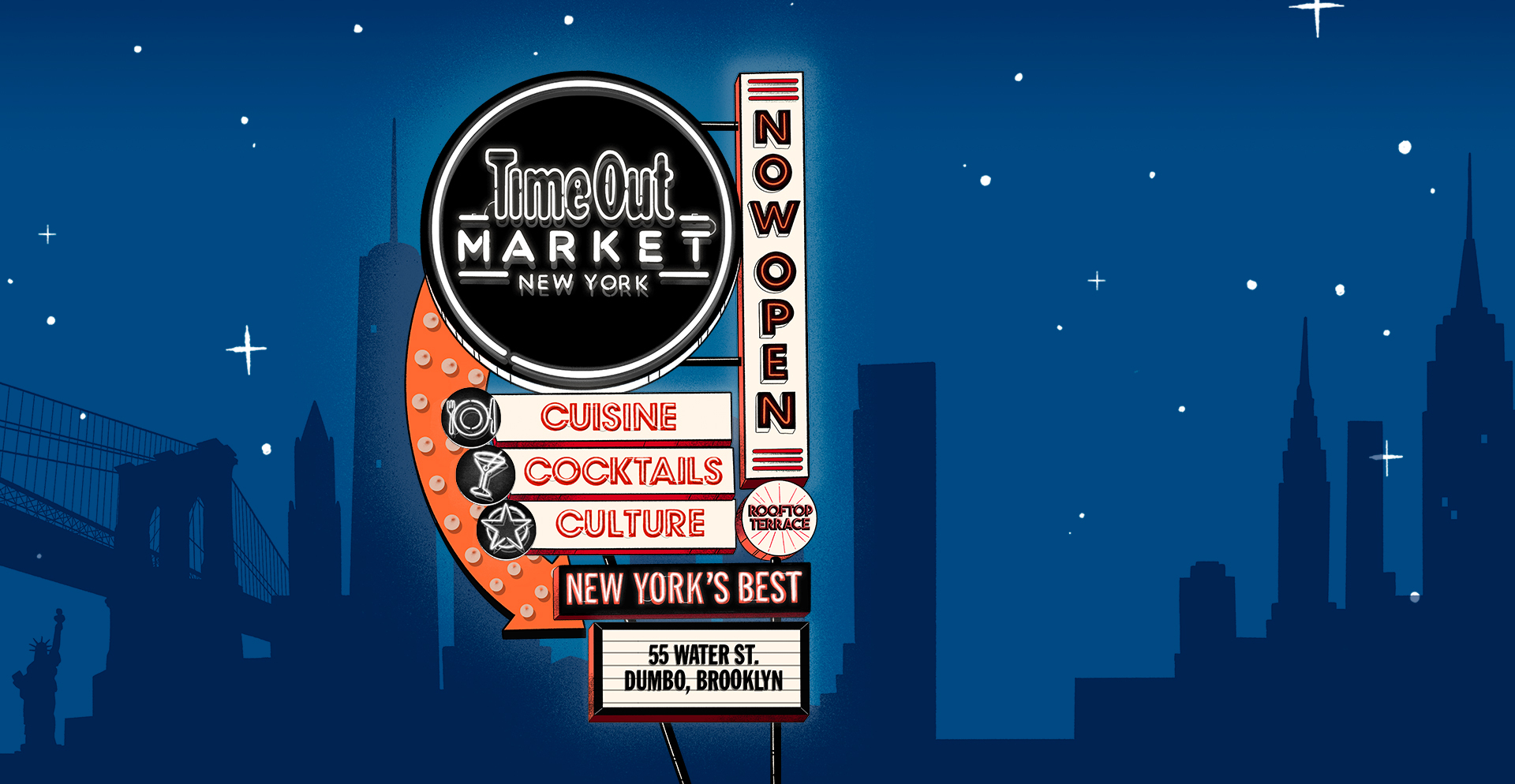 New York Market Has Reopened Neon Signage